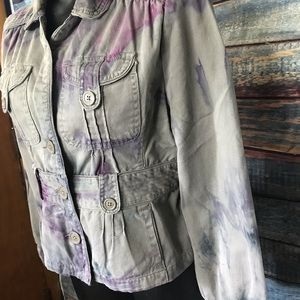 Women's Large hand made Mossimo tie dye jacket